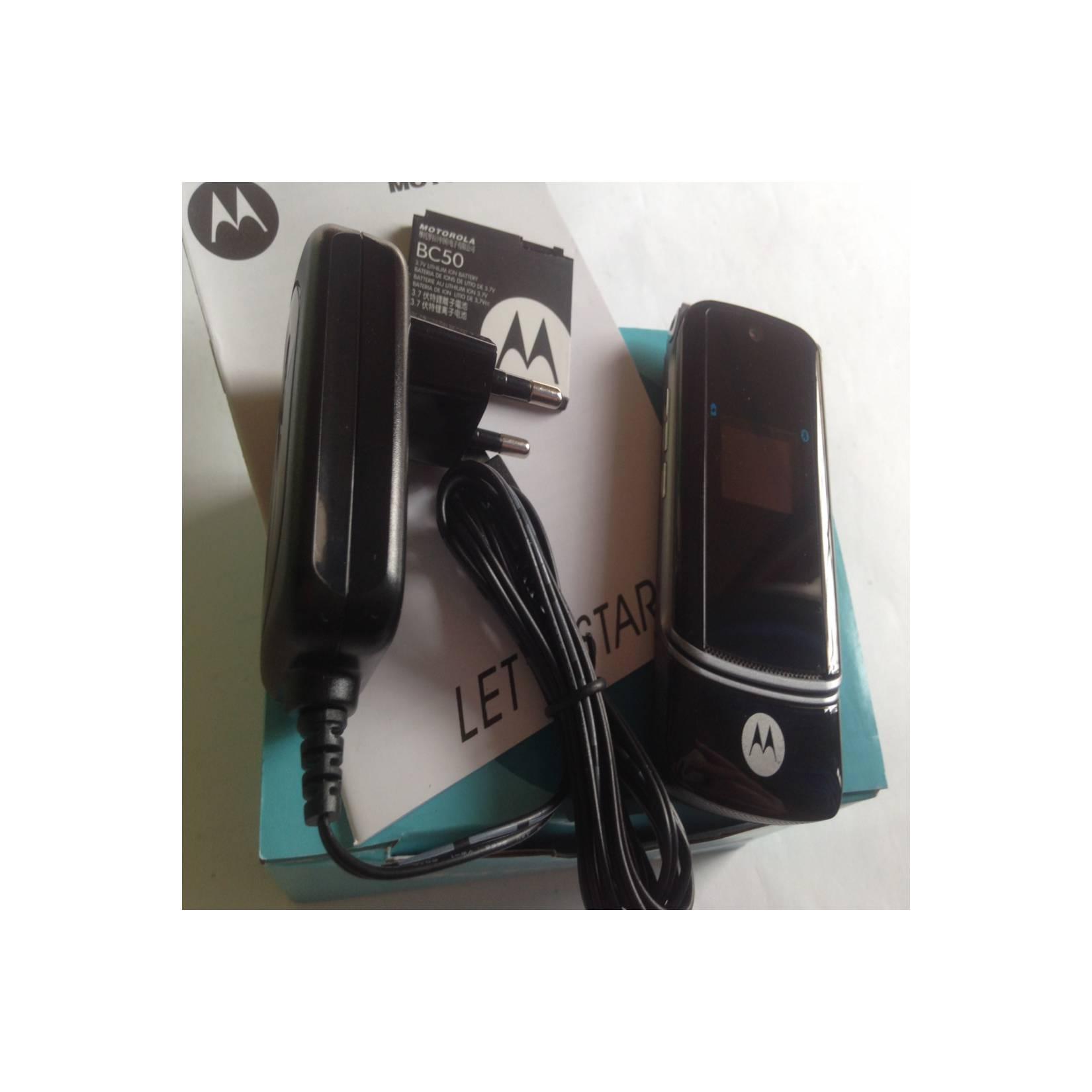 Motorola Flip KRZR K1 Slim Gem Hitam - HP Jadul Original