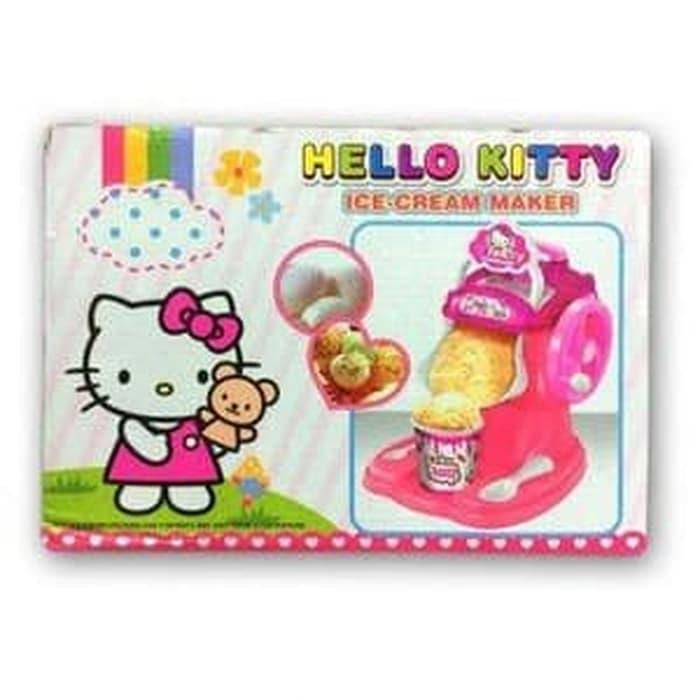 SPECIAL Mainan Anak - Hello Kitty Ice Cream Maker Mesin Pembuat Es Krim Pink