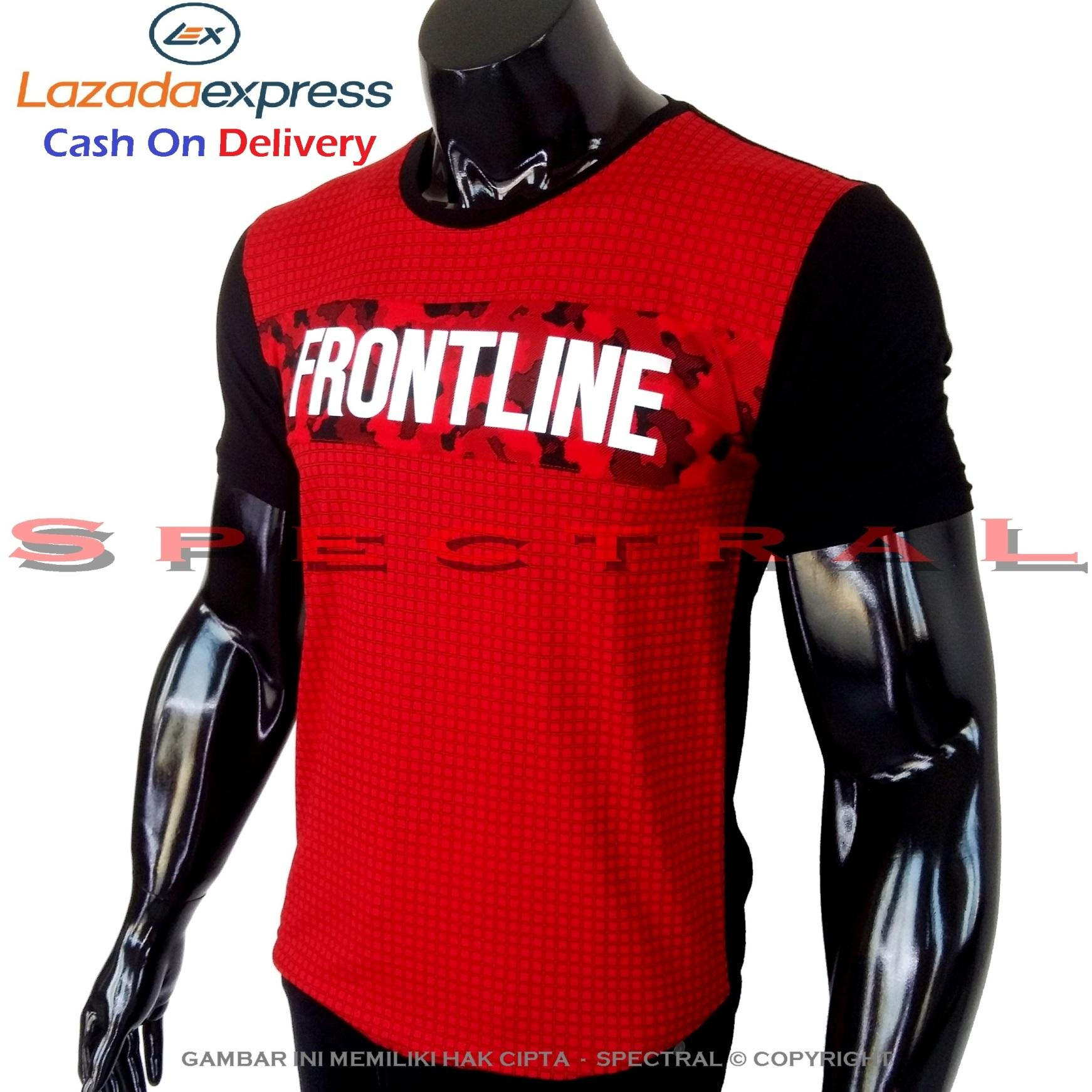 Spectral - Kaos Distro FRONTLINE Soft Rayon Viscose Lycra Pola M Fit To L Simple Fashionable Tidak