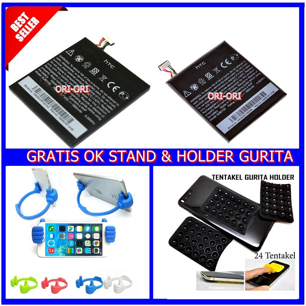Htc Baterai / Battery HTC One X Original BJ83100 Kapasitas 1800mAh + Universal OK Stand / Dudukan HP / Tablet + Holder Gurita Tempel 1pcs [ ori ori ]
