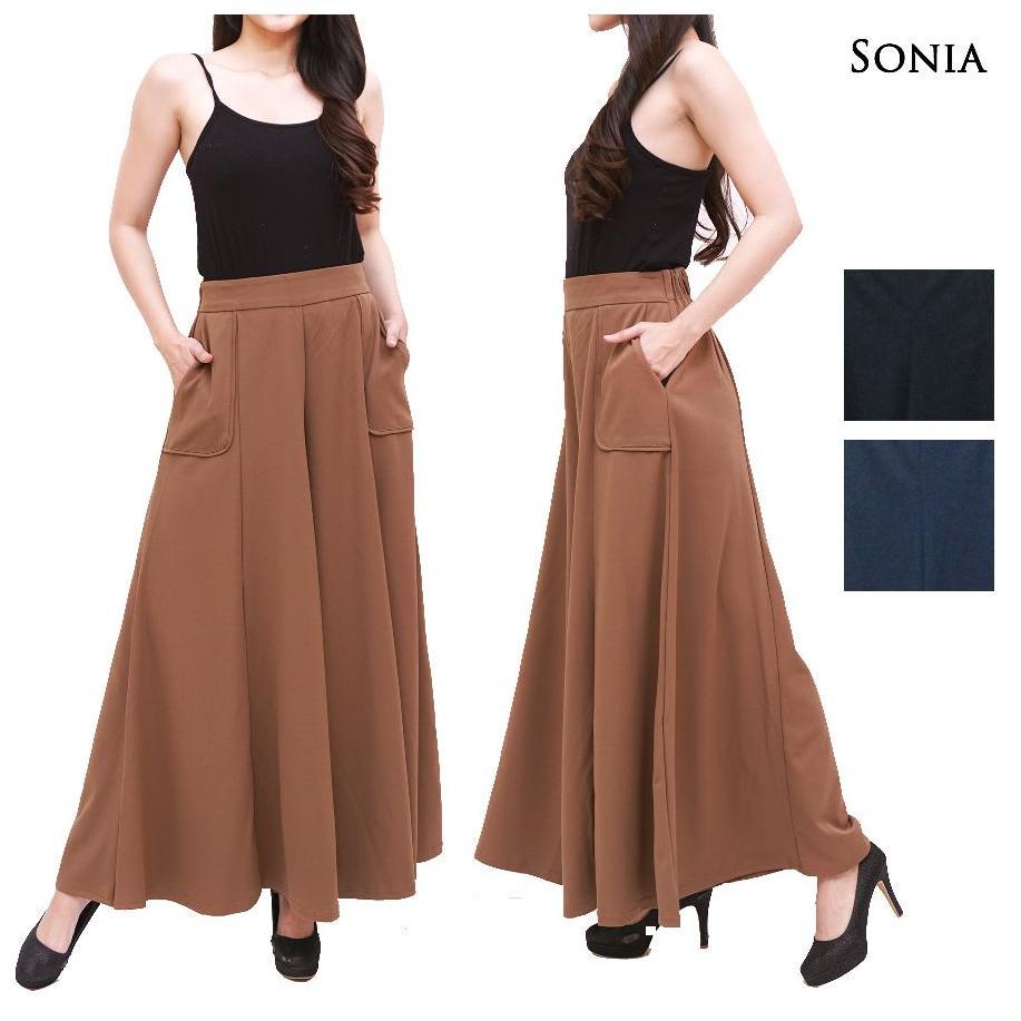 Alicia Celana Kulot Lebar Plisket Pants Black Beli Harga Murah High Quality Clothing Long Bcpj18100 Sonia 1511