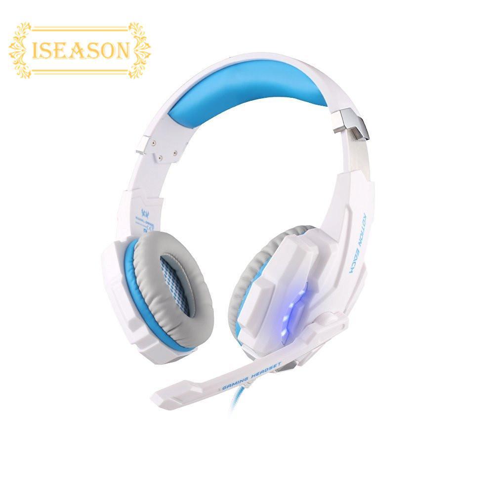 ISM Setengah Mati Penjualan Hidup 3.5 Mm Stereo Permainan Headset LED Ikat Kepala Headphone With Mikrofon Anda PS4 Laptop Buah -Internasional