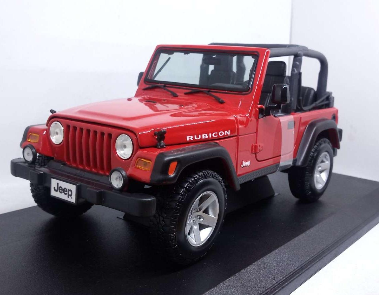 Diecast Miniatur Mobil JEEP WRANGLER RUBICON RED