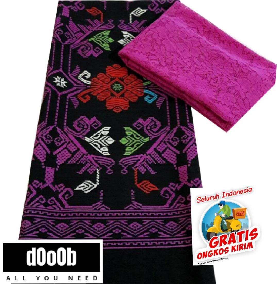 setelan kain satin bali dan brokat songket endek batik printing varian warna PINK bahan kebaya kutubaru kebaya wisuda kebaya modern kebaya rok lilit