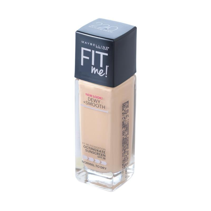 Maybelline Fit Me Dewy + Smooth Liquid Foundation - 210 Sandy Beige