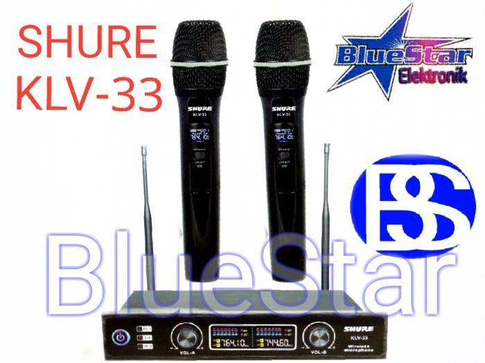 ORIGINALS  Mic Wireless Shure KLV 33 (Hitam)