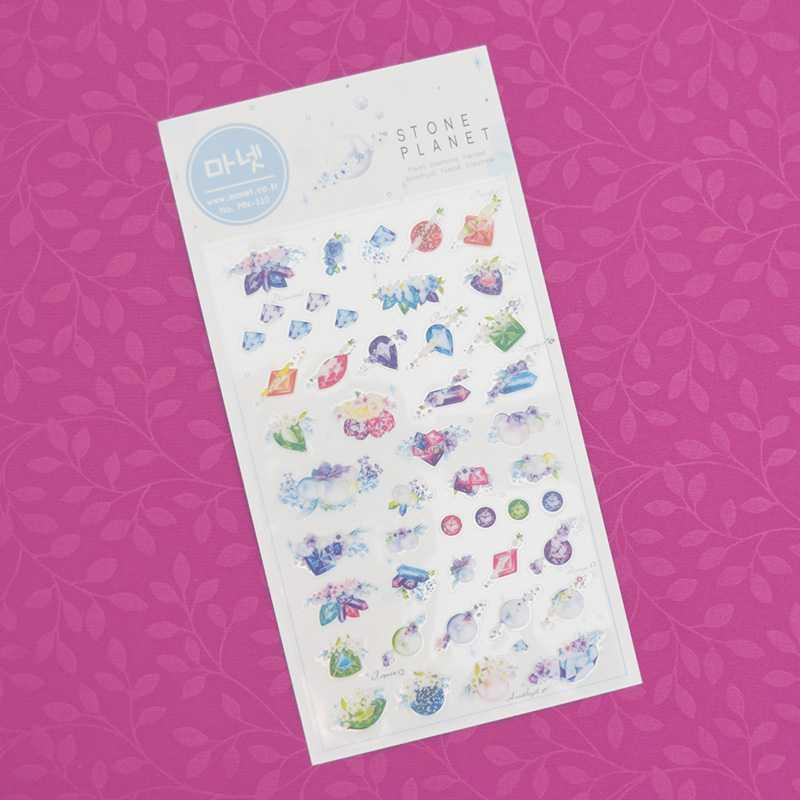 BEST SELLER Monet Stone Planet Diary Deco Stickers / Sticker Hiasan Buku HARGA TERMURAH