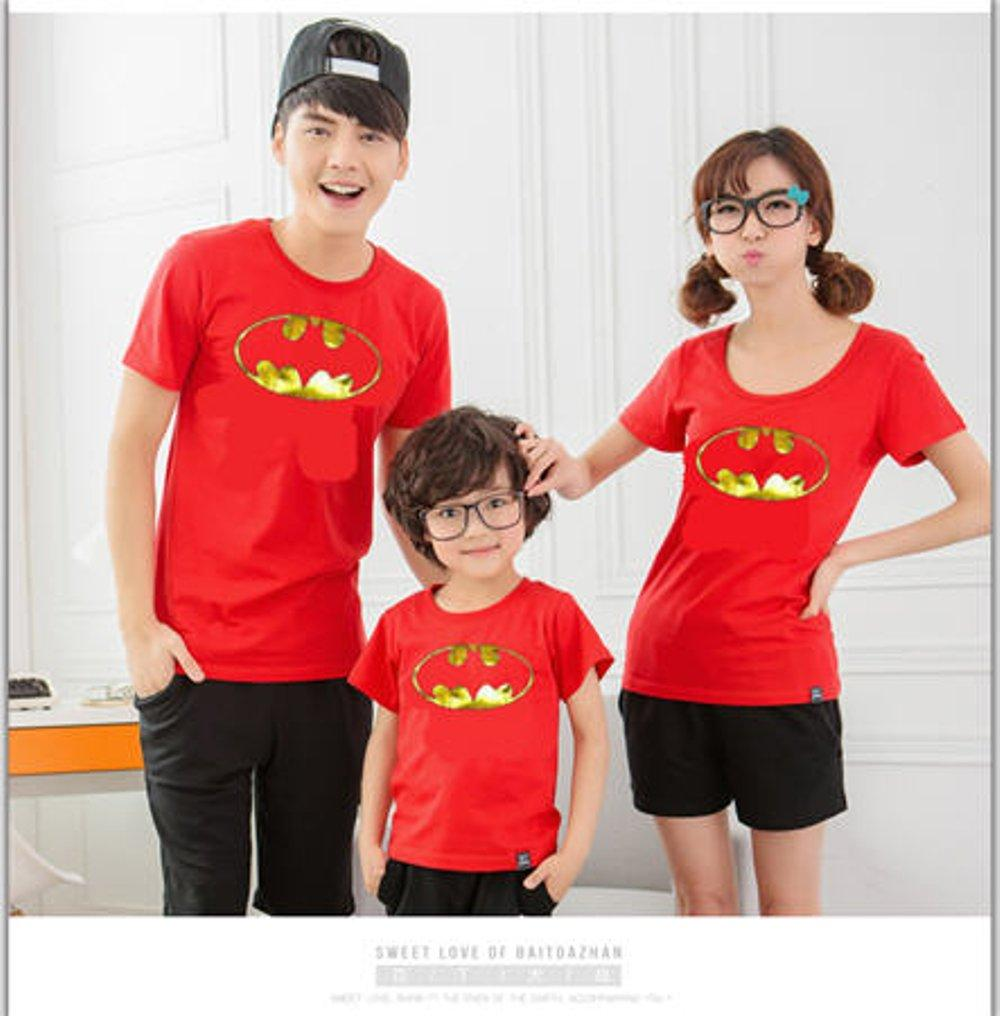 COUPLE FAMILY BATMAN GOLD FOIL (MERAH) di lapak COUPLE GROSIR couplegrosir