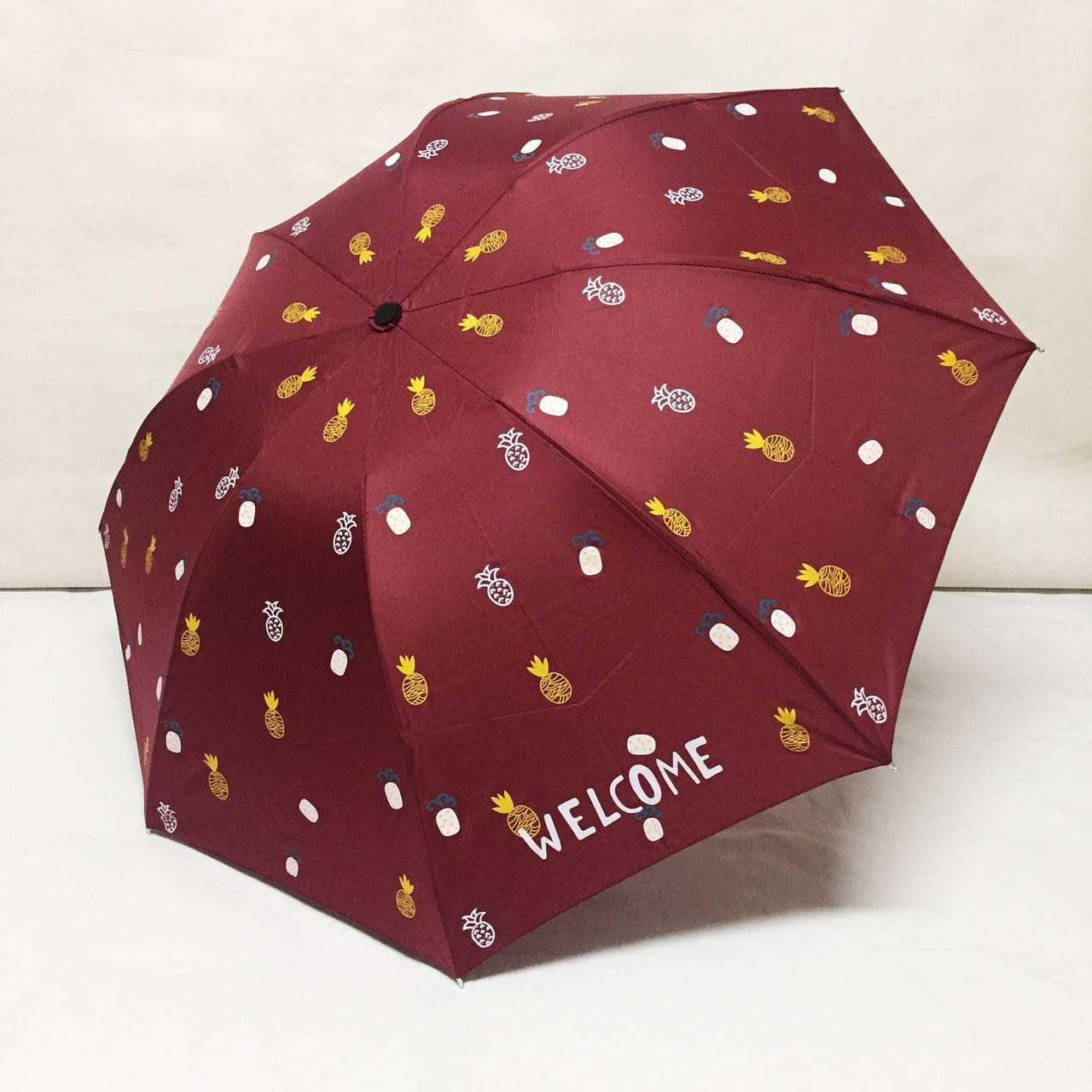 Payung lipat 3 pinapple welcome - 5971