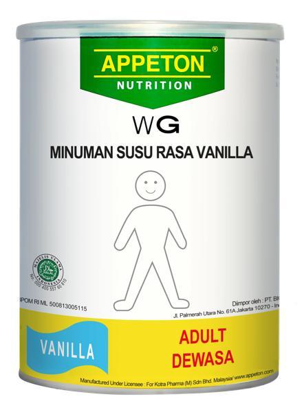 HARGA PROMO!!! APPETON WEIGHT GAIN DEWASA 450GR VANILLA SPECIAL PROMO - MT7GQD
