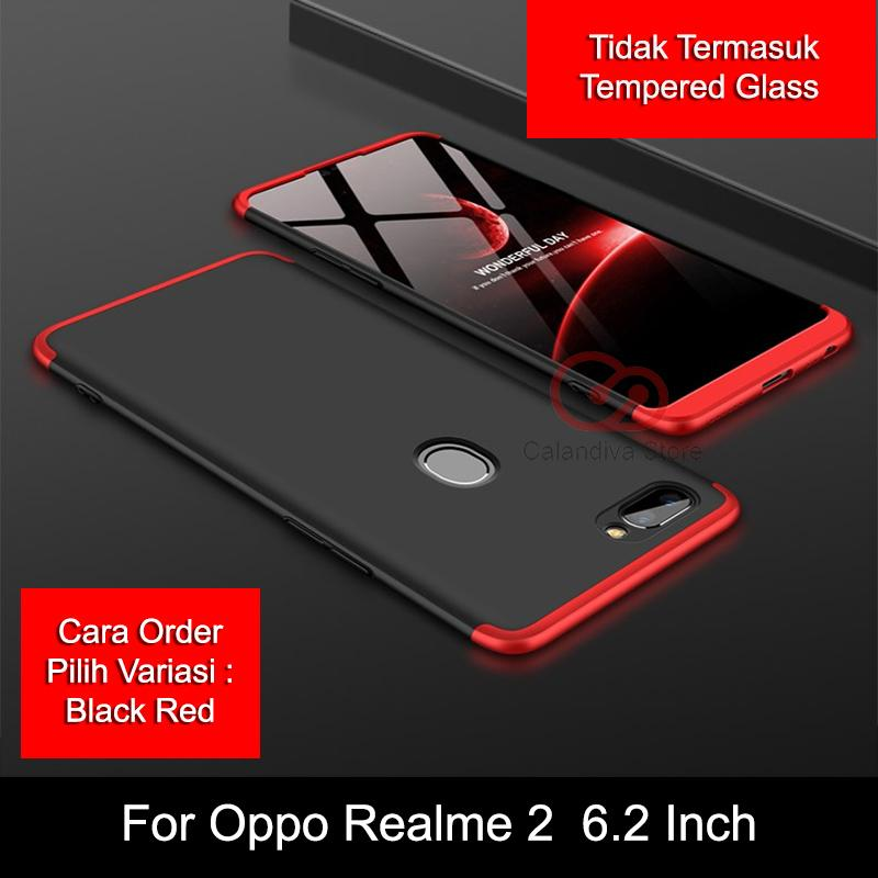Calandiva Case Oppo Realme 2, Oppo A5 (versi India) (6.2 Inch) (sama ukuran)(ADA FINGERPRINT) Casing Premium Front Back 360 Degree Full Protection