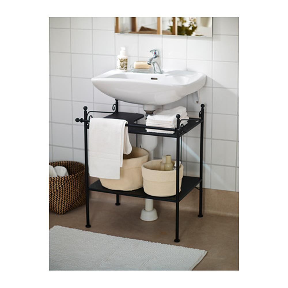 IKEA RONNSKAR Rak meja wastafel - hitam