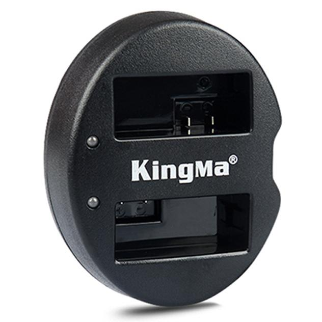 Rimas Kingma Charger Baterai 2 Slot Canon 550D 600D 650D Rebel T2i - LP-E8 - Black