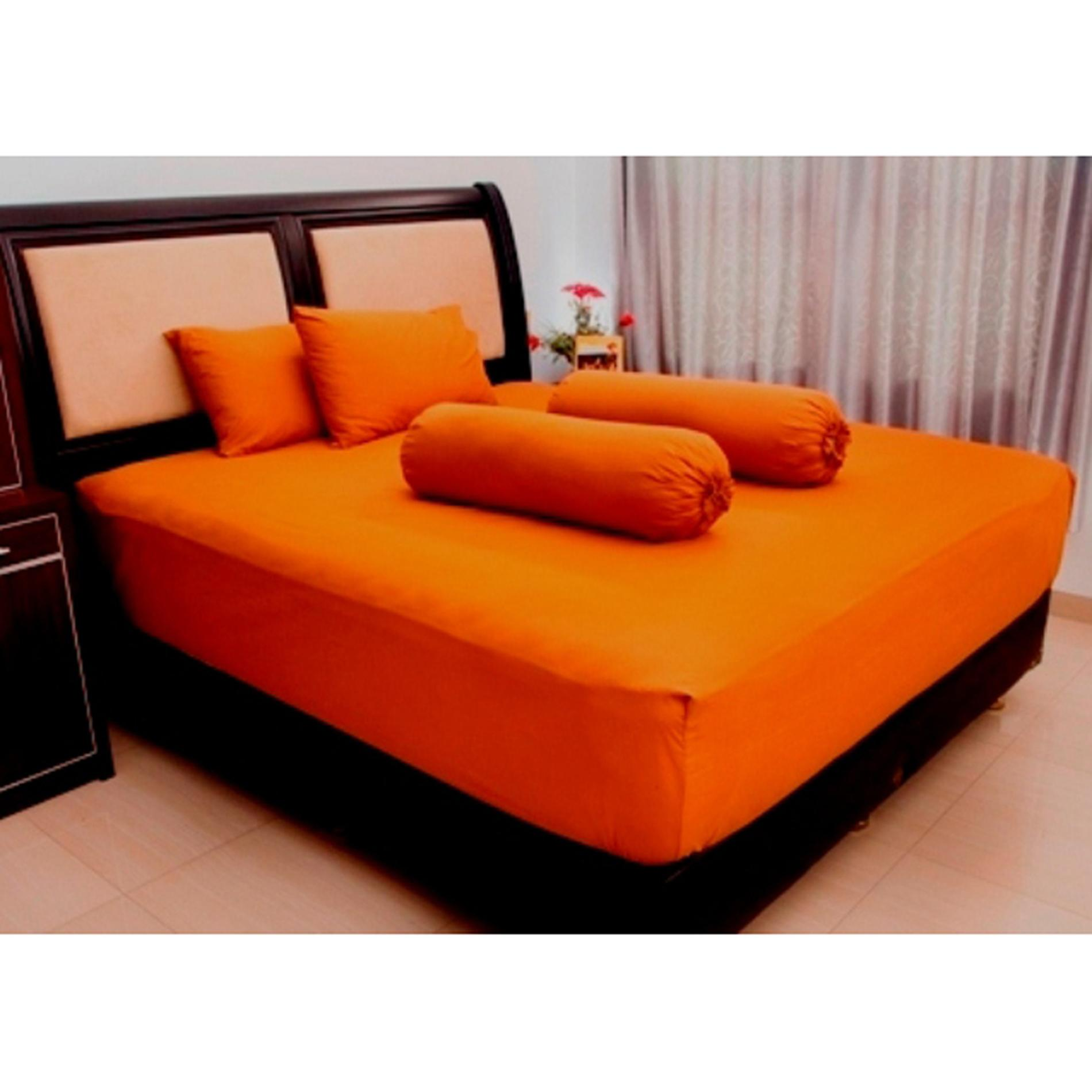 Ellenov Brown Honey Sprei With Bed Cover Katun