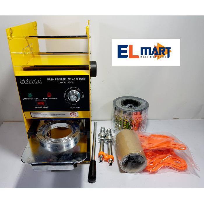 elmart Getra cup sealer SC D8/mesin penyegel gelas plastik manual berkualitas