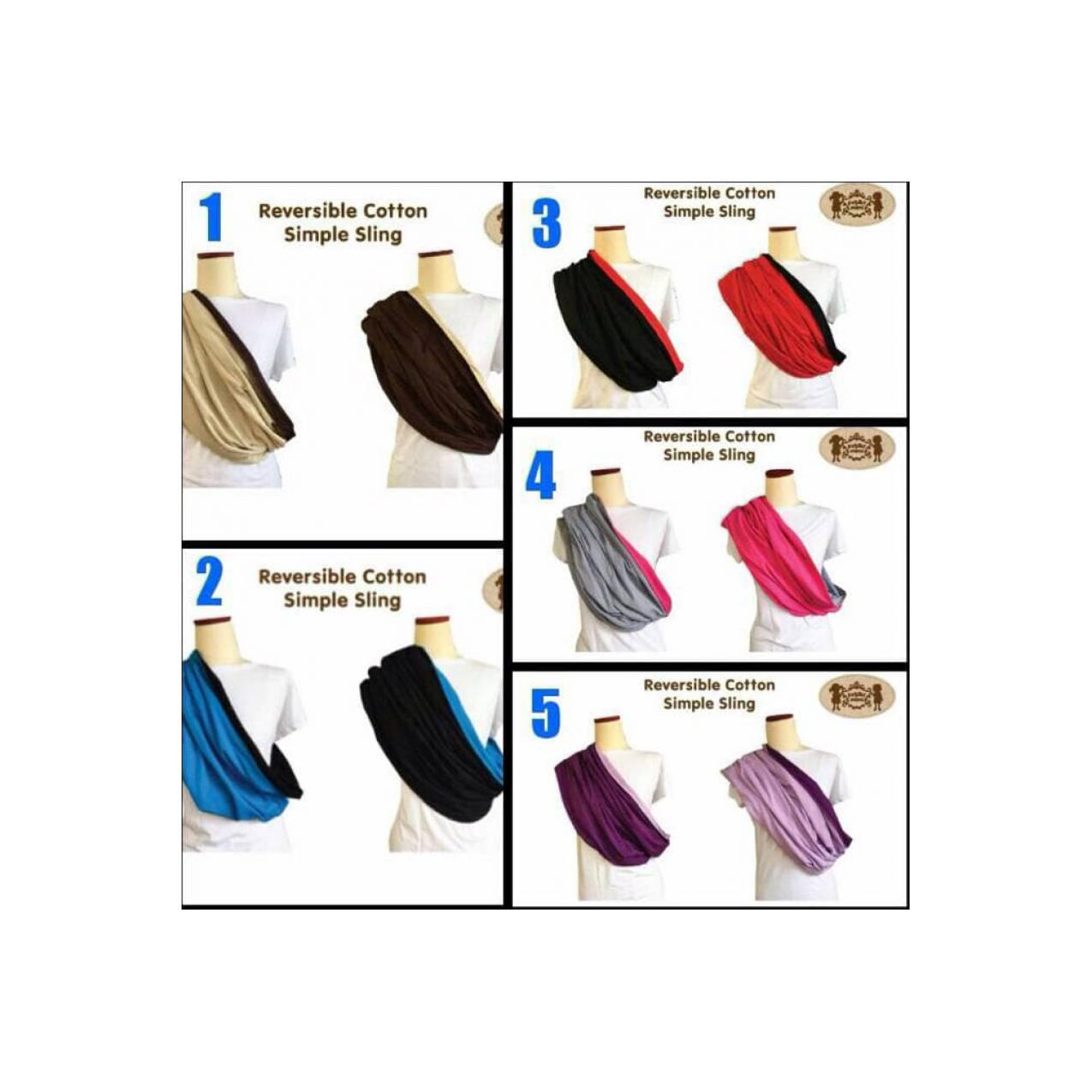Buy Sell Cheapest Mimi Hadiah Best Quality Product Deals Special Edition Petite Gendongan Kaos Geos Simple Sling Reversible