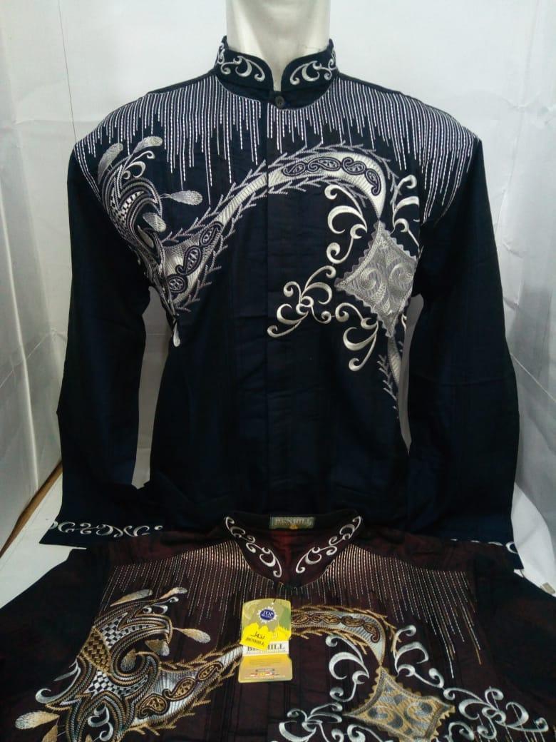 Baju Koko Pria Lengan Panjang - Kemeja Muslim - Baju Muslim - Toko Sumber Rejeki Jeans