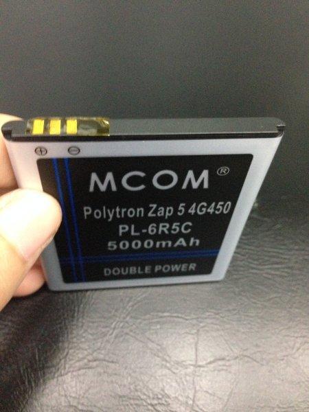 Baterai Polytron Zap 5 4g 450 Pl-6r5c 5000Mah Mcom Double Power