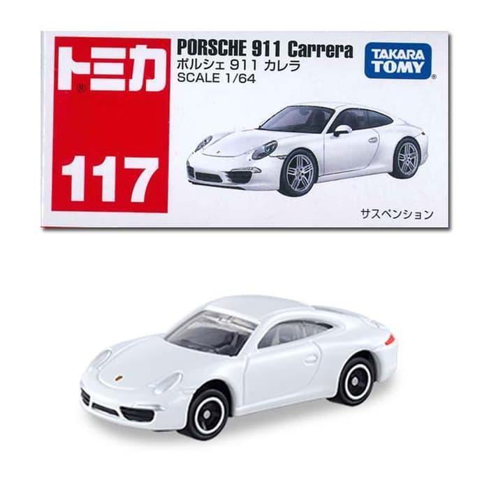 Porsche 911 Carrera white no 117 Tomica Reguler Takara tomy