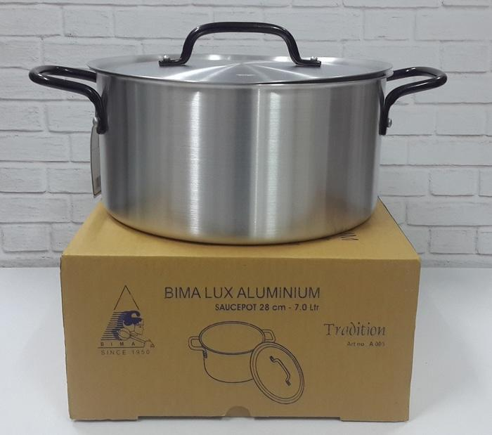 Original BIMA PANCI ALUMINIUM SAUCEPOT 28CM 7,0 LITER MADE IN INDONESIA - A006