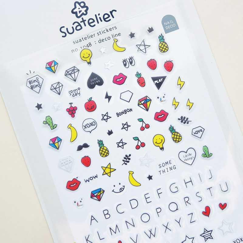 BEST SELLER Suatelier Line Diary Deco Stickers / Sticker Hiasan Buku HARGA TERMURAH