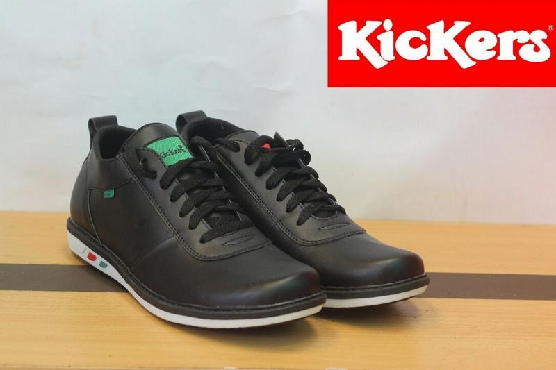 Sepatu SNEAKERS Kickers Casual Low Boots Kulit Asli MJ Slip On Pria Slop Formal Pantofel