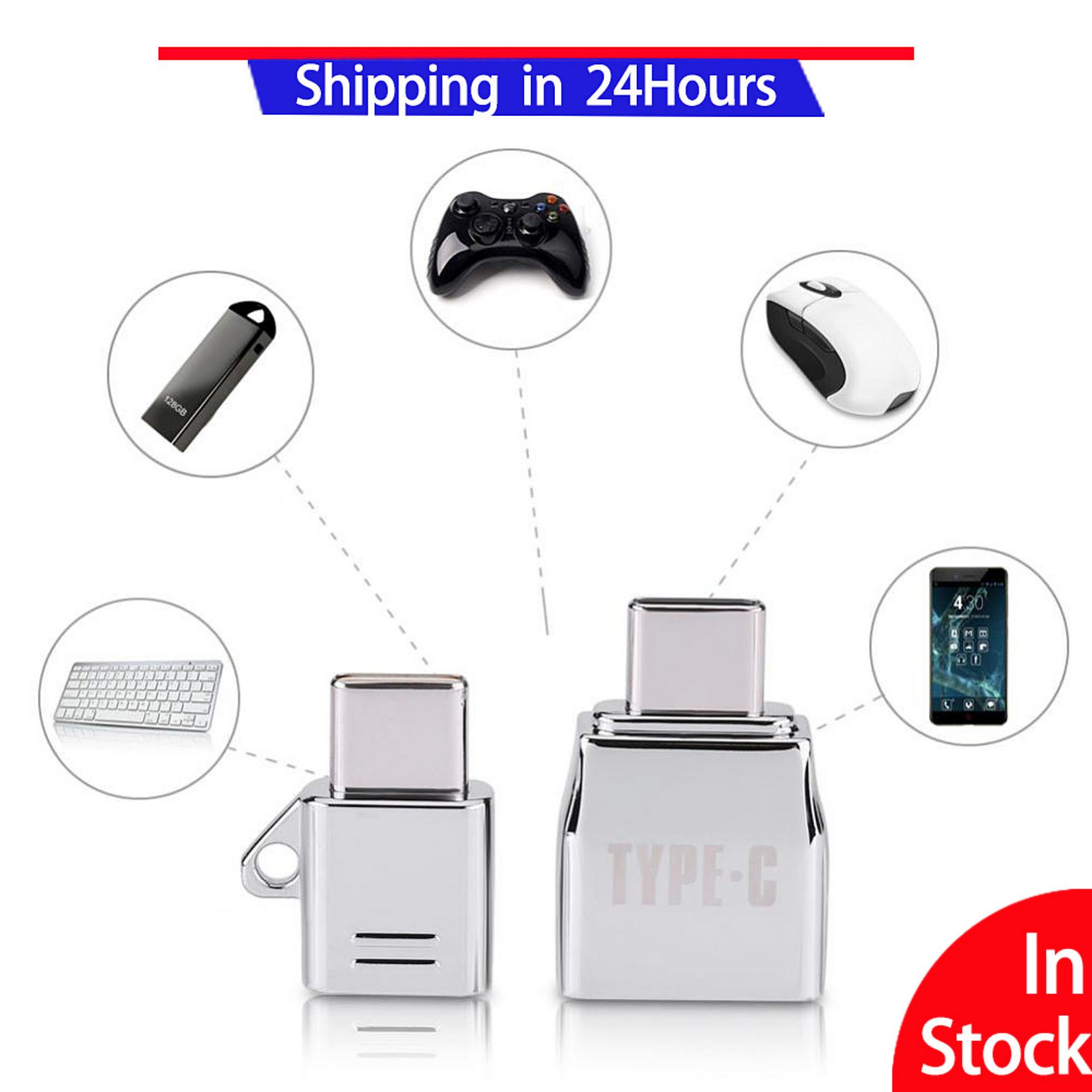 2 Pcs Micro Usb Female Ke Tipe C Usb Male Otg Adaptor Charger Paduan Seng Set Suit-Intl By Sweatbuy.