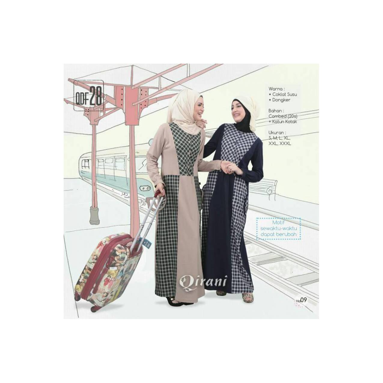 Baju Gamis Murah Bahan Combed Qirani QF 28