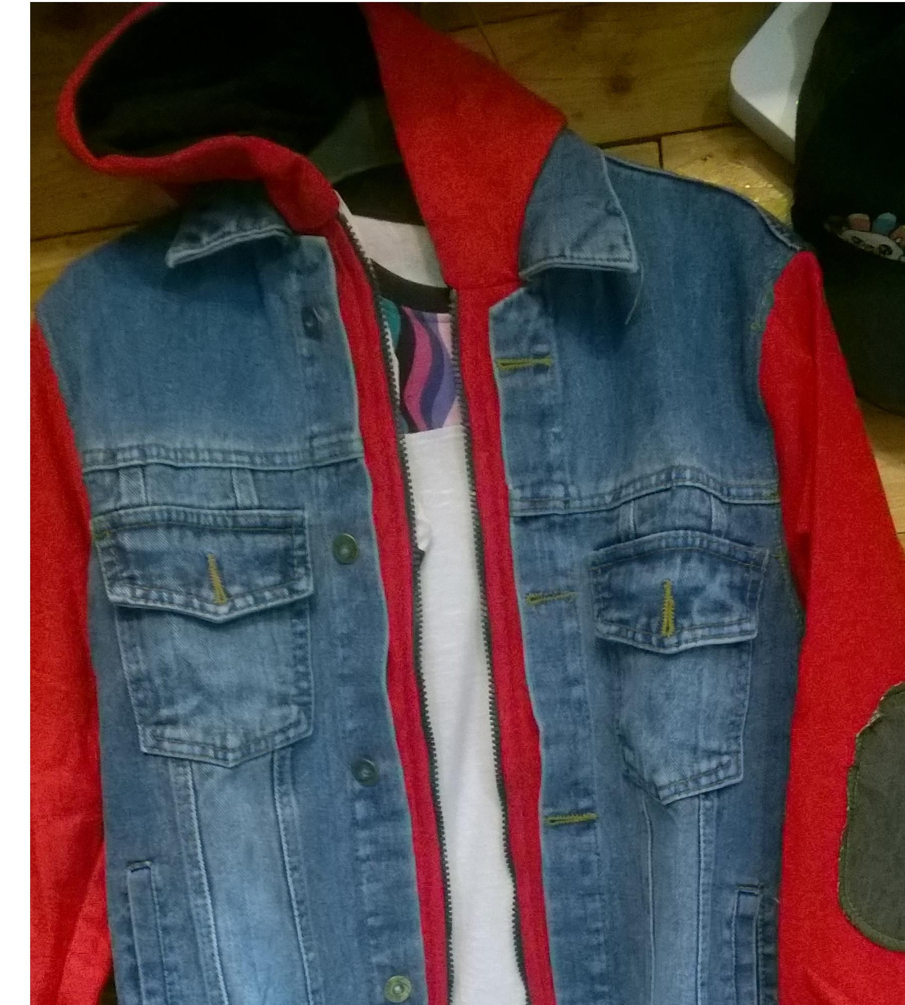 Jaket levis hoodie jeans denim size M dan L terbaik