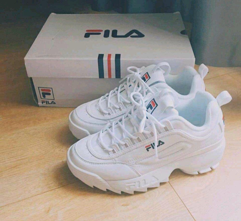 Sepatu Wanita FILA DISRUPTOR 2 FULL WHITE PREMIUM QUALITY