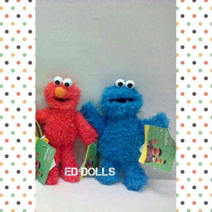 Boneka: Sesame Street - Elmo / Cookie Monster |20 Cm| - Lqwljs