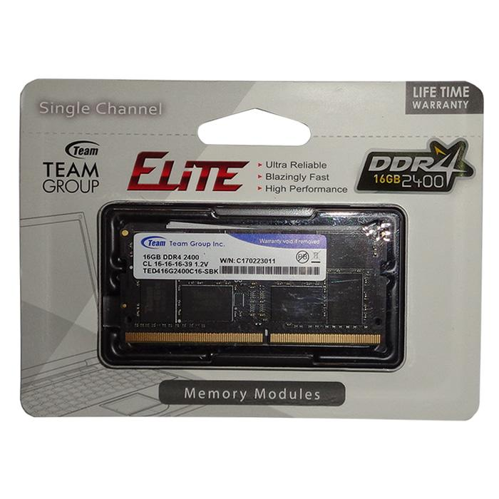 Team Memory Notebook 16GB DDR4 PC - 2400