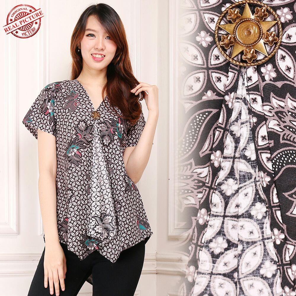 Cj collection Atasan batik blouse kemeja abaya kebaya wanita shirt Wina