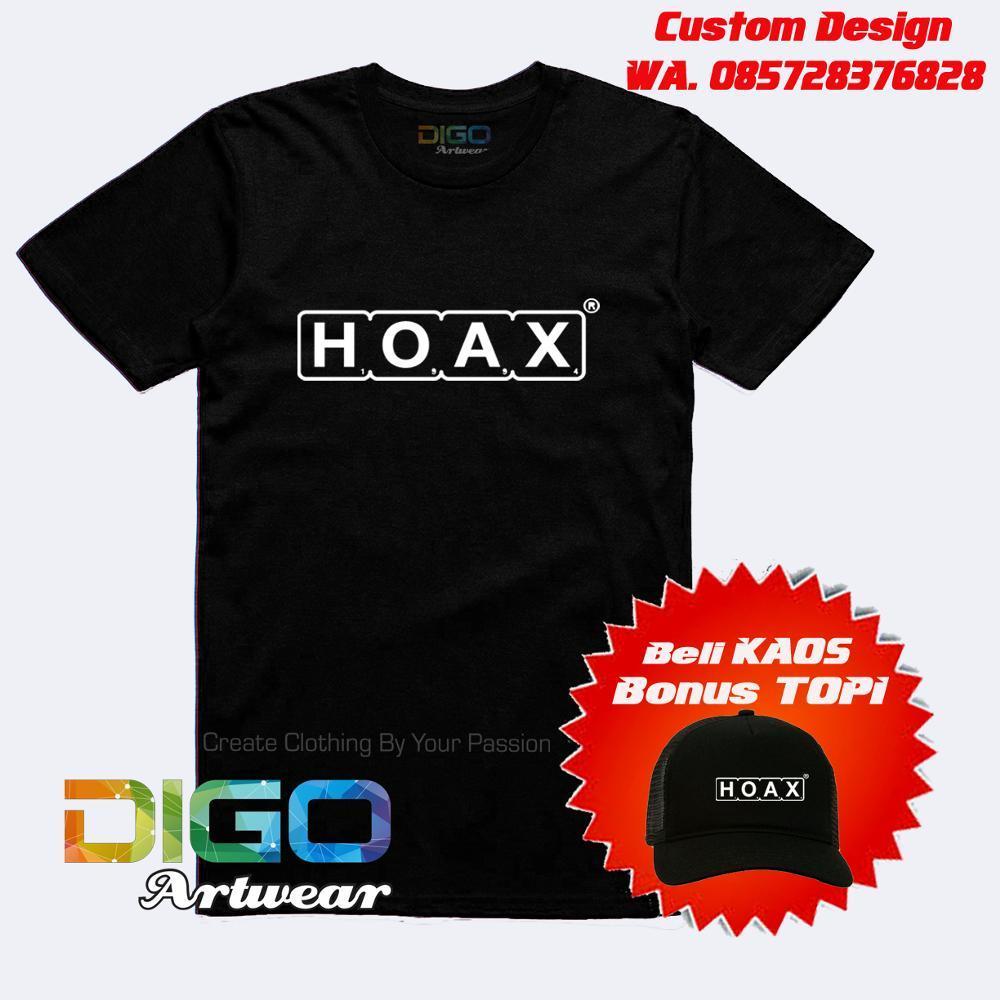 Kaos Hoax Bonus Topi Hoax