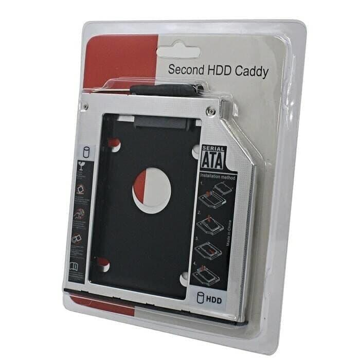 Harga Spesial!! Hdd Caddy / 2Nd Harddisk Slot Laptop 9,5Mm Sata To Sata 9,5Mm - ready stock