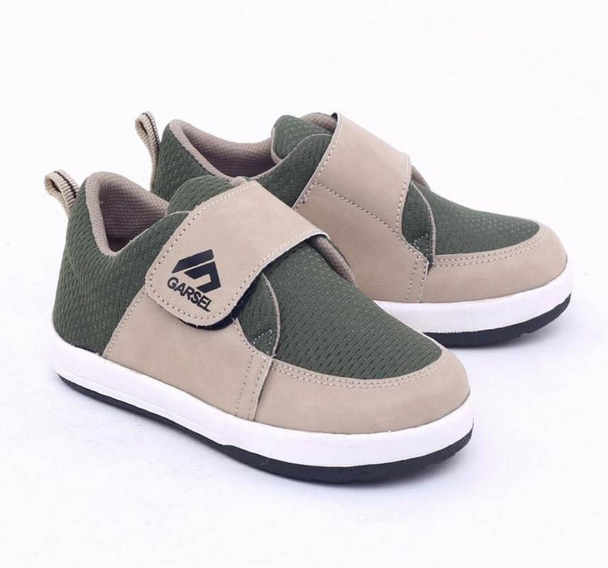 Garsel Shoes Sepatu Sneakers Anak Perempuan Hijau Komb - GNW 9566