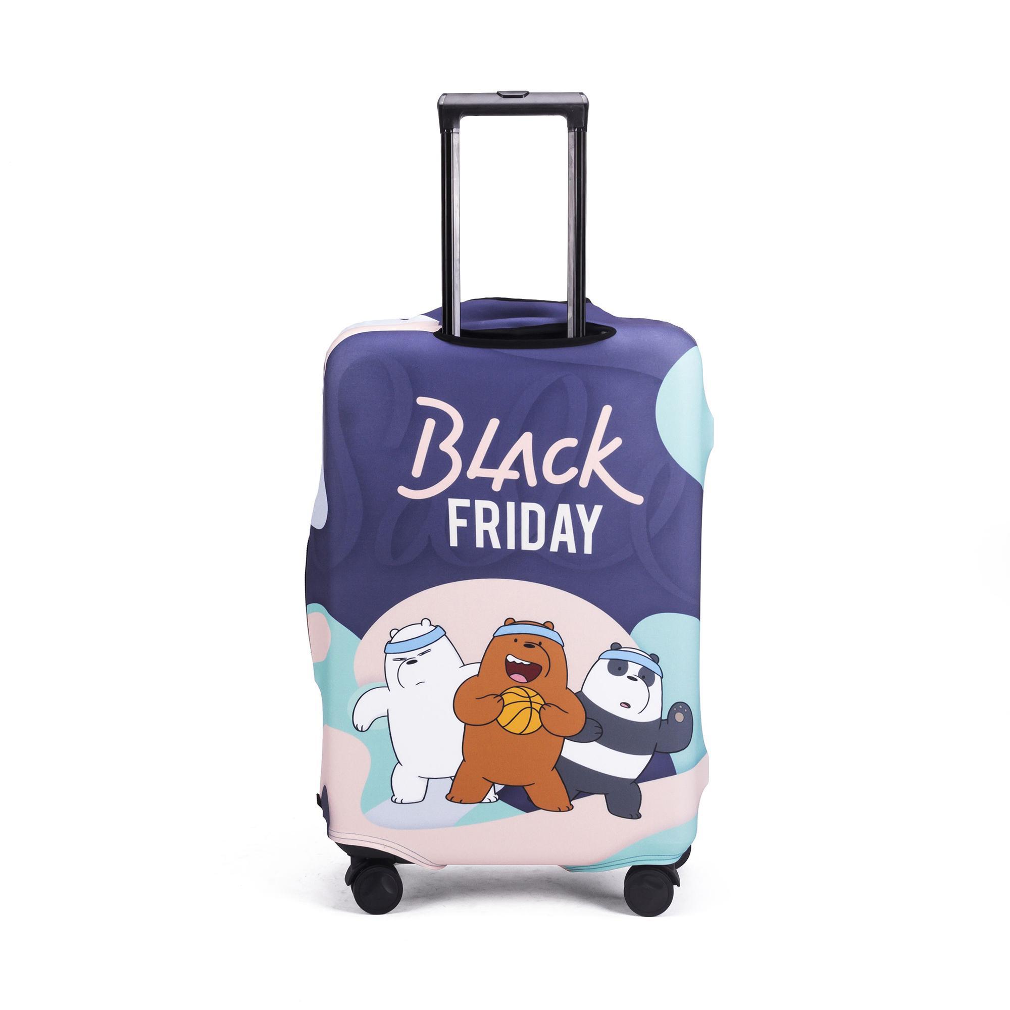 Sarung Pelindung Tas Terbaik Cover Koper Mika 28 Inci Luggage Elastis Premium Black Friday