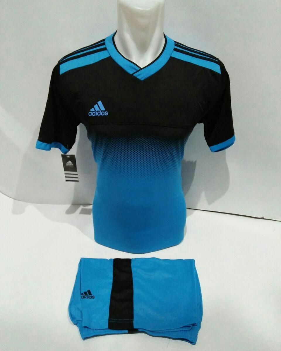 Baju Kaos Olahraga Jersey Setelan Bola Futsal Voli Ad 04 Biru muda
