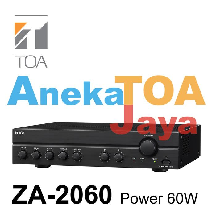 Original TOA ZA-2060 AMPLIFIER MIXER POWER 60 WATT 100% ORIGINAL ZA2060 ASLI