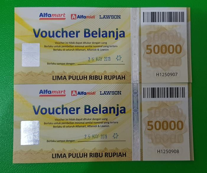 Voucher Alfamart nominal 100rb
