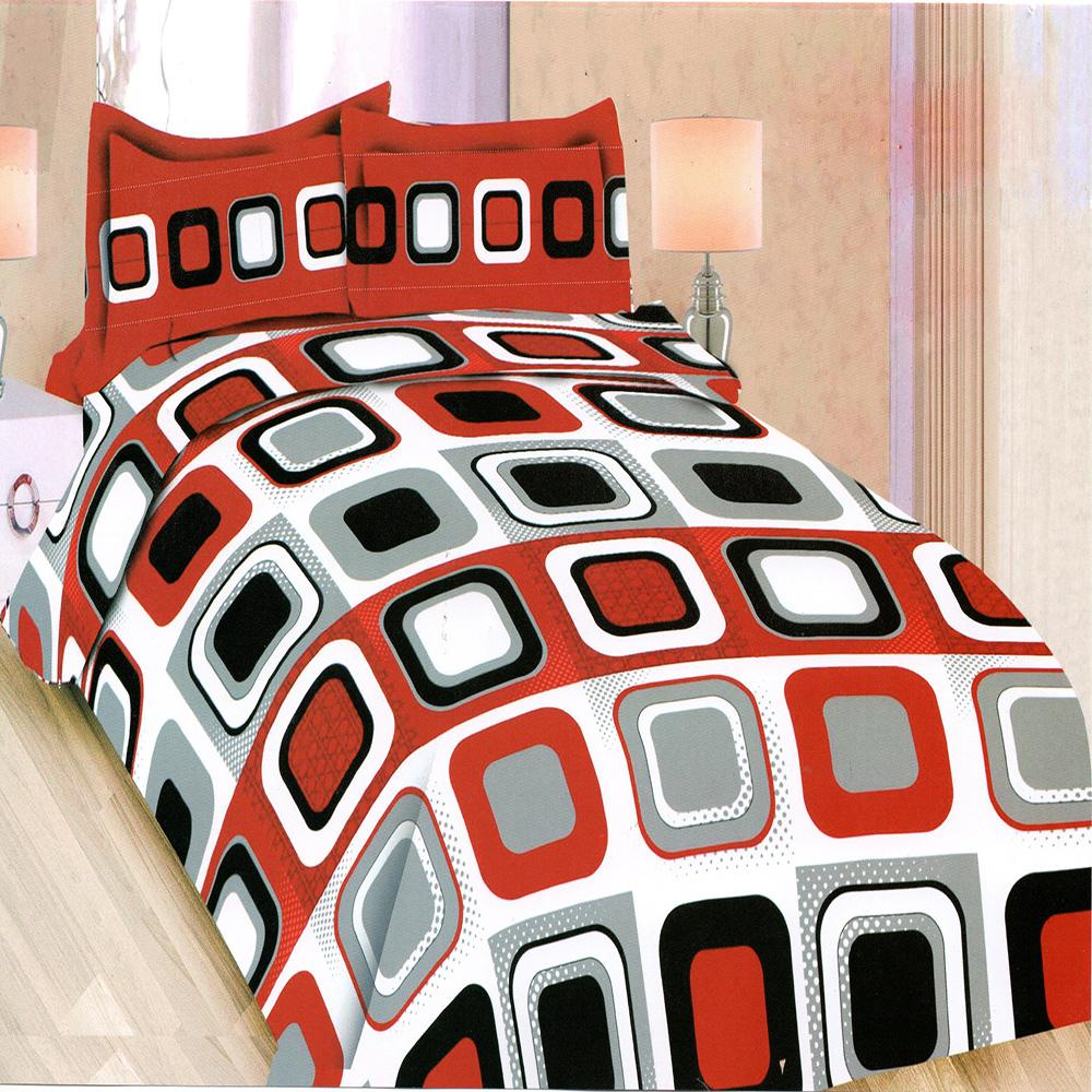Bonita Bedcover King 3D Motif Red Wood  - 180x200 cm