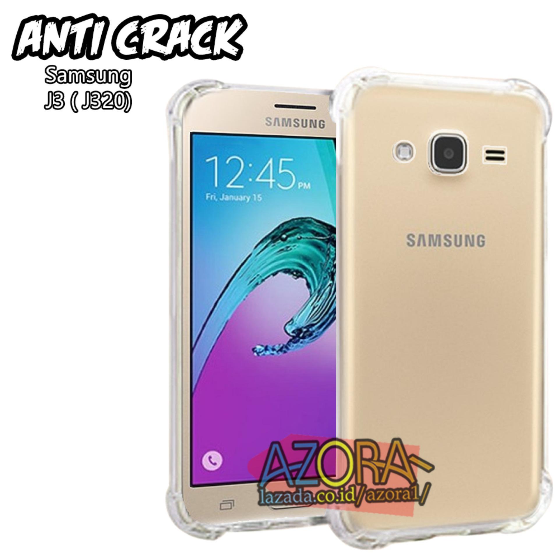 Case Anti Crack Samsung Galaxy J3 Ultra Thin Anti Shock Jelly Silikon Shockproof Softcase Azora - B
