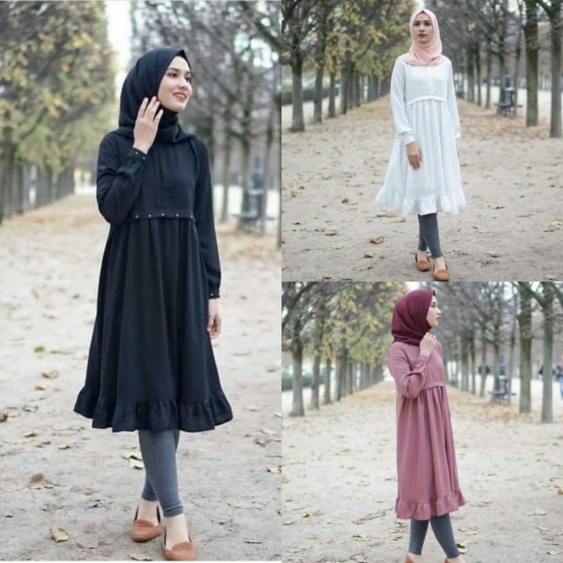 Deluxebrand Andika Tunik Pink Baju Wanita Blouse Korea Atasan Wanita Baju Formal Kemeja Wanita Kemeja Formal Atasan Muslim Kemeja