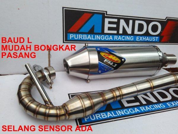 Knalpot Racing FMF F4 Fullsystem Leher Cacing KLX 150 SL BF G dTracker old new Silincer baud L Mudah bongkar Pasang