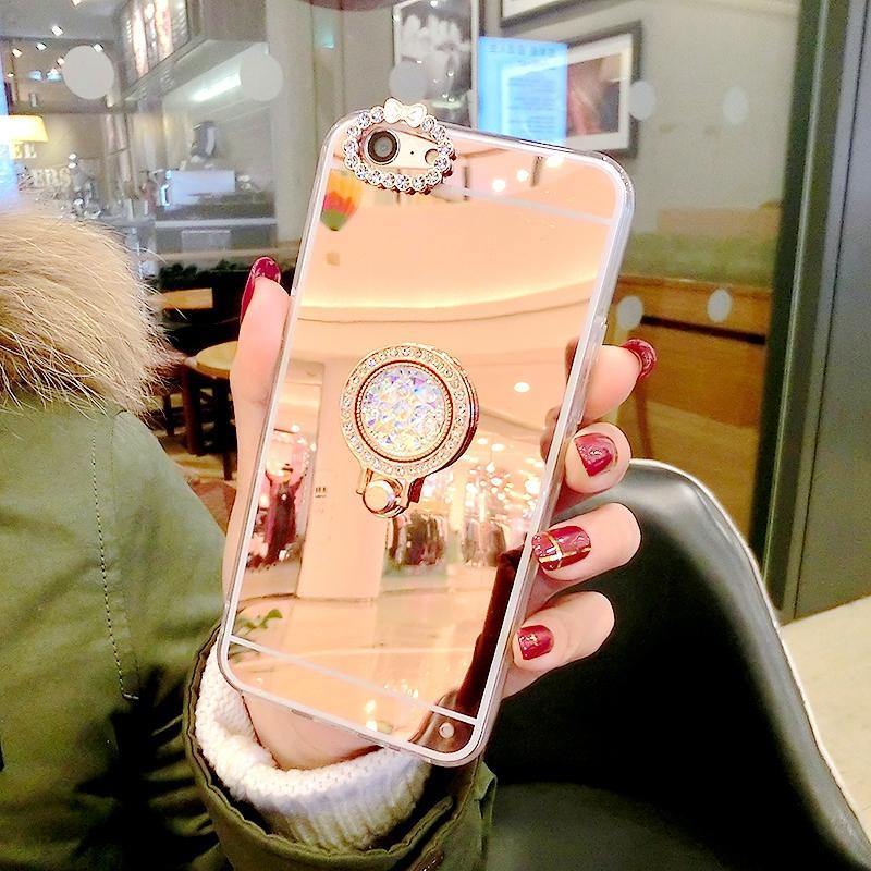 OPPO Casing HP A57 Batu Kristal Air Pelindung Shell OPPOA39 Handphone Cermin Cincin
