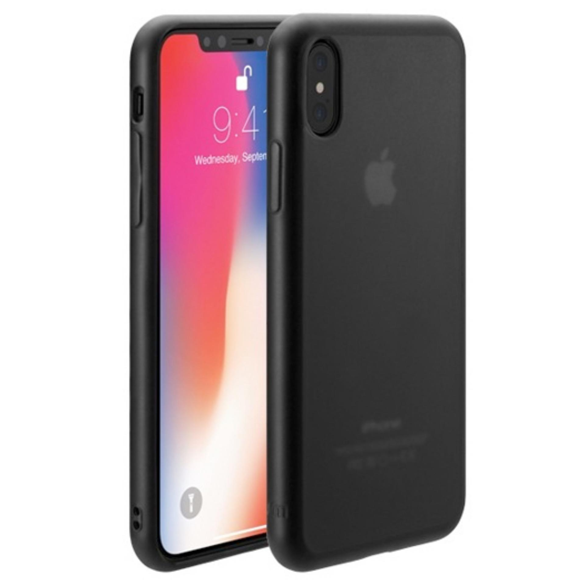 Case Slim Black Matte iPhone X Baby Skin Softcase Ultra Thin Jelly Silikon Babyskin  - Black