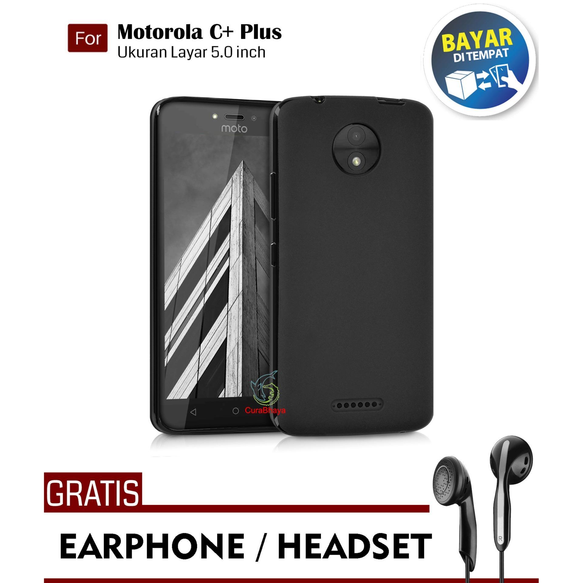 Midnight Motorola Moto C+ Plus | Slim Case Black Matte Softcase Premium Baby Skin + Gratis