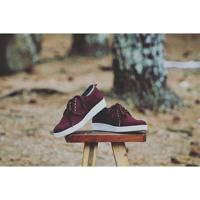 Promo Sepatu Handmade Indonesian Pride Prodigo Kutai Marun Gratis Ongkir