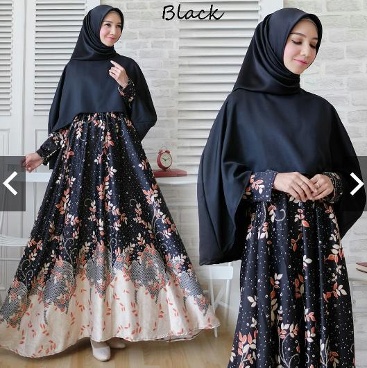 IndonesiaHeritage Gamis Syari Pesta Premium maxmara dijamin ORIGINAL FOTO ASLI + Hijab Khimar Bergo - Syarie