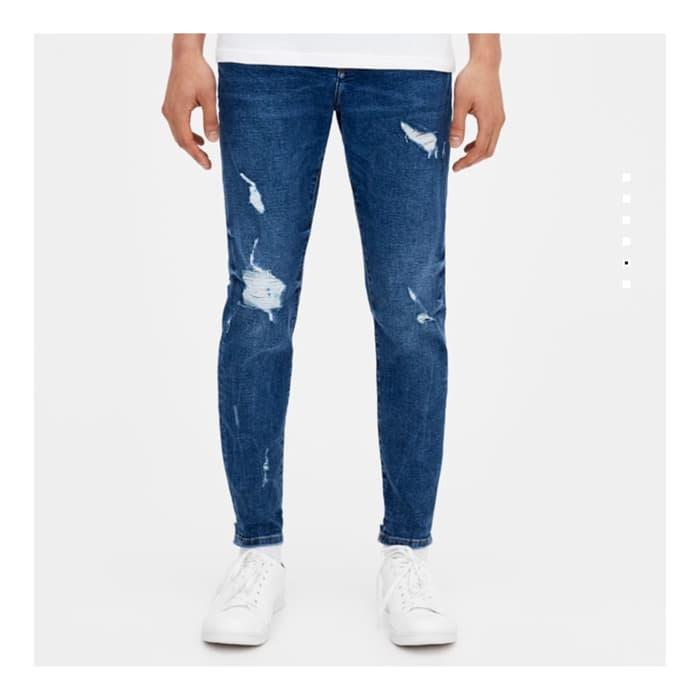 Celana Ripped Jeans PB Original Not Nudie Levis Mexx Lacoste